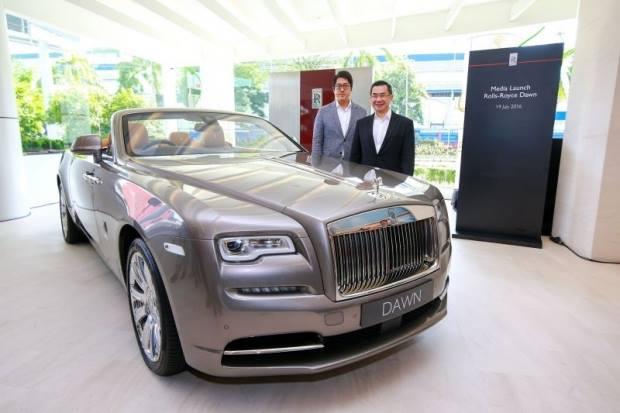New launch of Rolls-Royce Dawn