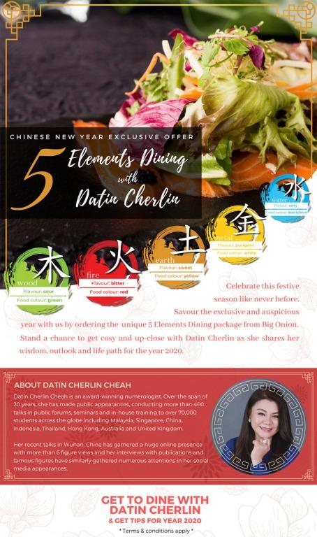CNY 5 Elements Dinner